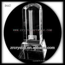 Image de laser 3D de K9 à l'intérieur du dessus rond de cristal