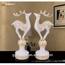 European style modern chirstmas decor resin deer statue for home ornament