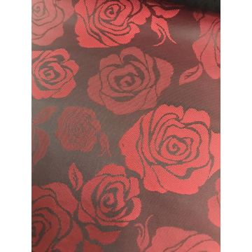 Red Big Flower Jacquard Lining
