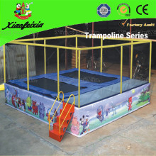 Two Bed Trampoline with Ladder
