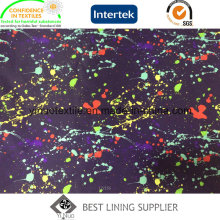 Doublure colorée d'impression de polyester de 100% pour le tissu