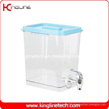 1 Gallon Square Plastic Jug Wholesale BPA Free with Spigot (KL-8021)