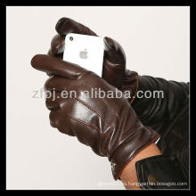 2013 CCTV personalizó el guante de cuero de la pantalla táctil