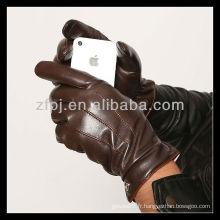 2013 gant tactile en cuir personnalisé pour CCTV