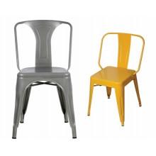 Europeo de metal al aire libre patio jardín silla / hierro comedor silla / silla de acero