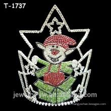 Elfes de cristal colorés de mode surpris couronnes de concours de Noël