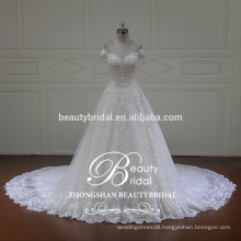 off shoulder embellishments puffy princess ball gown bridal wedding dress