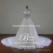 от приукрашивания плеча паффи принцесса бальное платье свадебное платье для новобрачных