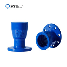 Ductile iron DI Pipe fittings for PVC Pipes ISO 2531 6 inch pvc pipe fittings Tflange socket