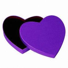 Benutzerdefinierte Farbe Herzform Geschenkbox mit Deckel