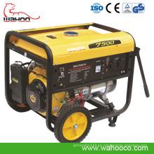 Generador industrial de la gasolina del poder portátil del alambre de cobre de la venta caliente del CE el 100% 6kw (WH7500 H)