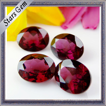 Hot Sale Oval Forma Natural Pedra Garnet