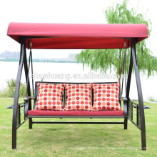Hot selling 3 person metal patio swing chair for adults with canopy garden furniture