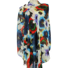 50% cashmere 50% cashmere fur shawl