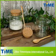 Frasco de vidro transparente de 250 ml com tampa superior de cortiça