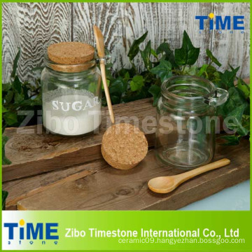 250ml Clear Glass Jar with Cork Top Lid