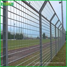 Clôture de sûreté de l'aéroport soudée par fil d'acier revêtu avec support de poste Y