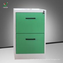 Kommerzielle Aktenschrank 2 Schublade Stahlschrank für Dateispeicherung