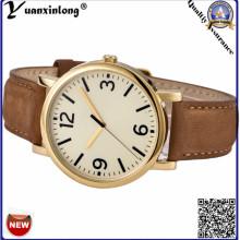 Yxl-120 New Design Gold Plate Watches Mens Luxury Business Men′s Wrist Watch Leather Quartz Gift Watch Wholesale