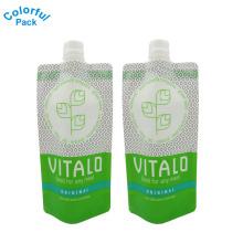 Kundenspezifischer Design-Lebensmittel-industrieller Gebrauch und Tiefdruck-Drucken-flüssiges Getränk der Oberfläche stehen oben Beutel mit Tülle