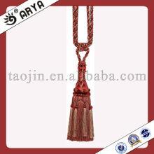 Vente en gros de cravate en bois à coques Tassel Fringe, décoration française