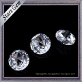Round 5mm Brilliant Rose Cut White Color Cubic Zirconia Gemstones for Jewelry