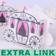 Tarjeta blanca FSC fabrica cajas de dulces creativas en forma de coche