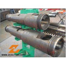 Extrusora gêmea cónica da tubulação do PVC do tambor do parafuso do dobro do tambor do parafuso de Cm55 Kmd