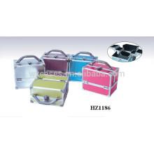 vente chaude aluminium caisse cosmétique avec choix de couleurs différentes