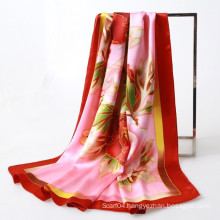 Oriental style hand paint peony square scarf direct buy china