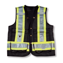 Black Color 100% Polyester Surveyor Vest