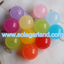6-30MM Acrylic Translucent Round Ball Beads Loose Gumball Spacer Charms