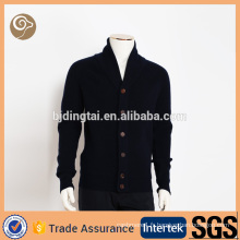 Turn down collar tricoté en gros Chine pure pull en laine