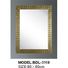 Espelho de vidro do banheiro da prata da espessura de 5mm (BDL-3118)