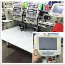 Double Heads Embroidery Machine Suitable for Cap, Flatbed, T-Shirt Embroidery