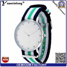 Yxl-214 2016 Atacado New Fashion Diamante Relógio Elegante Ladies Nylon Nato Strap Watch Wrist Lady