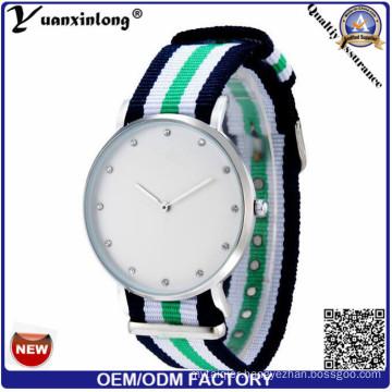 Yxl-214 2016 Wholesale New Fashion Diamond Watch Elegant Ladies Nylon Nato Strap Watch Wrist Lady