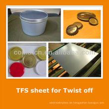 JIS3315 standard Tin kostenlos aus Stahlblech für Tinte zeichnen Getränkedosen