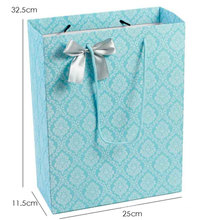 Printed Paper Shopping Gift Bag with Butterfly Ornament