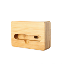 Natural Bamboo Wooden Desktop Mobile Phone Holder MiNi Portable Wood Mobile Phone AmplifierSound Stand Universal Phone Stand