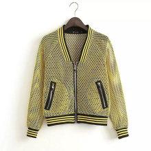 Fashion Design Long Sleeve Autumn Women Bomber Jacket