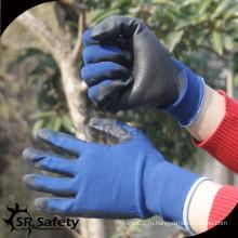 SRSAFETY 15gauge трикотажный полиэфирный нитрил на ладони для защитных рабочих перчаток