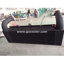 De aluminio de la pintura de Balck del intercambiador de calor del aire de China