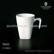 Porzellan-Becher mit Löffel, fördernder Kaffeetasse Löffel u. Keramischer Spooner-Becher