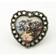2013 Fashion Vintage Peach Heart Design Finger Rings Jewelry FR98