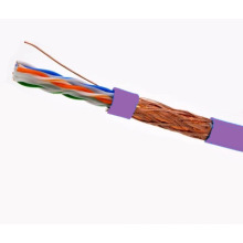 SFTP CAT6 LSZH Câble Fluke Testé Soild Nare Copper Purple