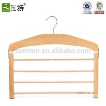 En gros un cintre d'écharpe en bois de hêtre, cintre en bois pour l'écharpe