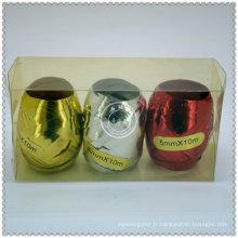 Gros oeuf de ruban de couleur personnalisé pour cadeau décoratif
