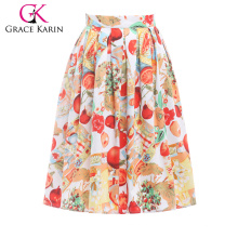 18 Colors Grace Karin Women Vintage Skirt Pinup 50S 60S Cotton Skirt Autumn Skirts Dance Vestidos CL6294-8#