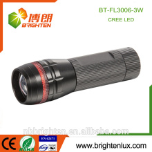 Wholesale Cheap Price Pocket Size Home Usage Aluminum Matal Long Range Zoomable Focus 3W Cree powerful flashlight torch